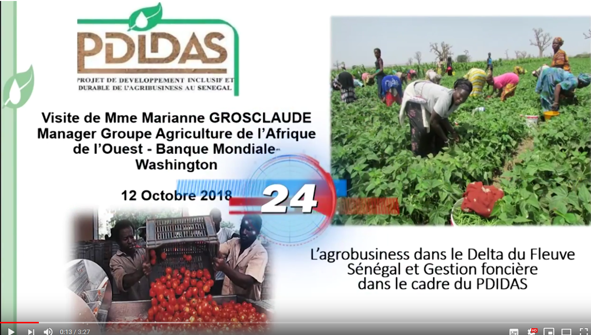 Visite de Mme Marianne Grosclaude de la Banque Mondiale aux sites du PDIDAS